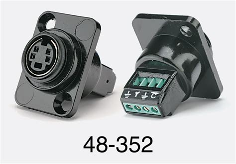 Mini Dan 4 btx cv tcs415pst mini din 4 pin panel flange termination