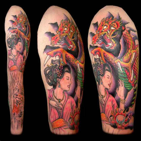 japanese geisha sleeve tattoo designs geisha images designs