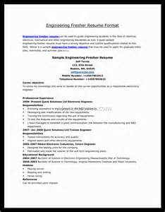 Resume Sle For Agricultural Engineering Freshers 100 Resume Format For Freshers Mechanical Resume Format For Mechanical Engineer