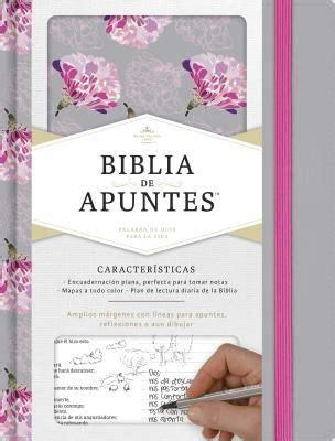 libro rvr 1960 biblia de rvr 1960 biblia de apuntes gris y floreado tela impresa