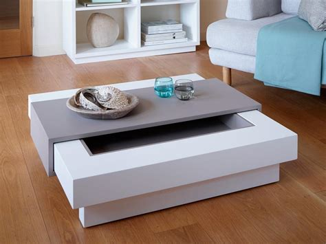 white and grey coffee table gillmore space marlow matt grey and white coffee