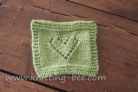 knitting pattern with heart motif lace heart motif knitting pattern knitting bee