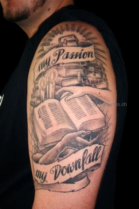 attractive literary tattoos  book lovers