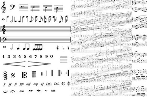 pattern photoshop music a free collection of music note brushes for photoshop