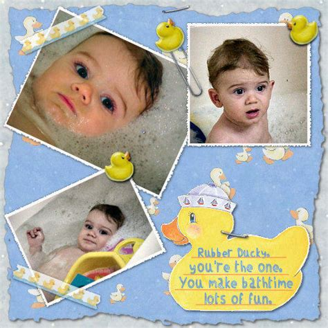 rubber ducky digital scrapbook kit digital scrapbooking