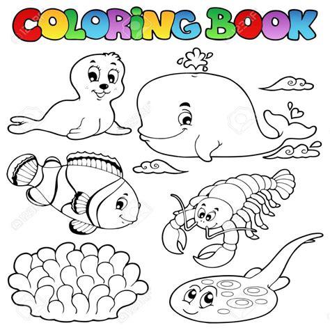 dibujos para colorear de animales del mar dibujos para colorear animales de libros diversos mar 3