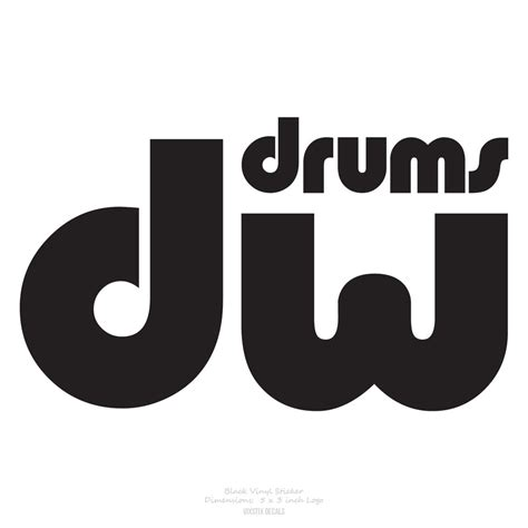 Kaos Dw Drums Drum Logo by Lot Of 4 Dw Drums Drum Workshop Logo Decal Stickers Black