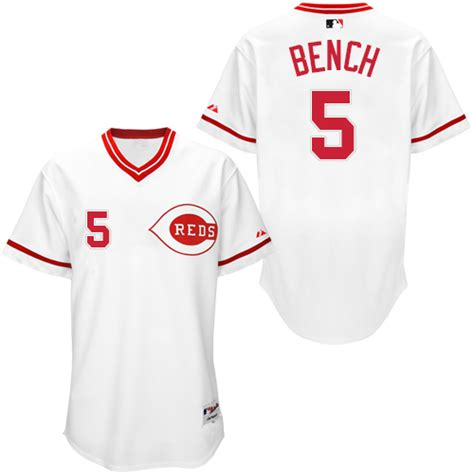 johnny bench jersey johnny bench men s cincinnati reds white replica 1990 turn