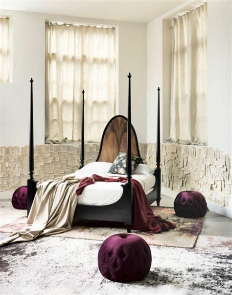 vorhang für bett dekoration wohnzimmer gardinen