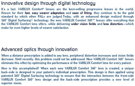 Varilux Comfort Lenses Review by Varilux Comfort 360