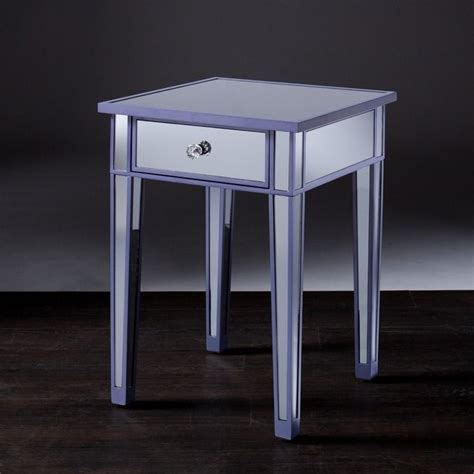 purple accent table southern enterprises mirage colored mirror accent table in