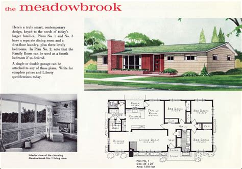1960 contemporary mid century ranch plan the meadowbrook