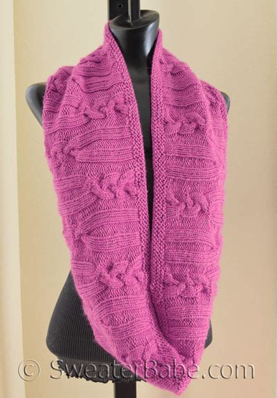 knitting pattern scarf circular needle free pattern pick rose cabled circular scarf by
