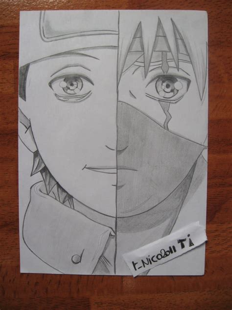 imagenes de kakashi a lapiz mi dibujo obito kakashi hatake madara arte taringa