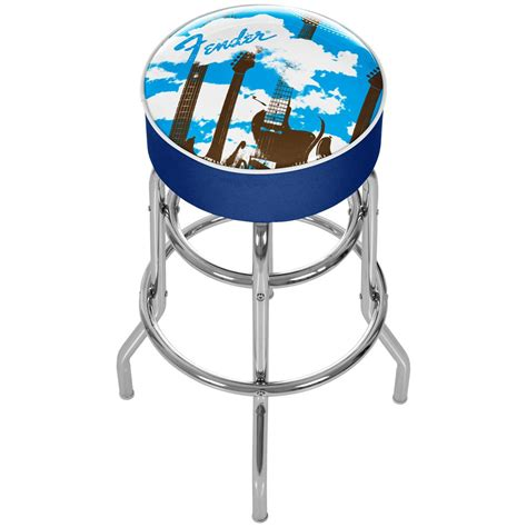 guitar bar stools fender guitar in the clouds padded bar stool 424808 at