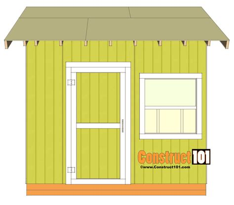 10x10 Shed Plans by Shed Plans 10x10 Gable Shed Construct101