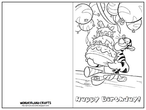Wonderland Crafts Birthday Cards Birthday Card Printable Template
