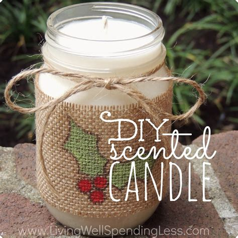 diy scented candle handmade gifts ideas scented candles