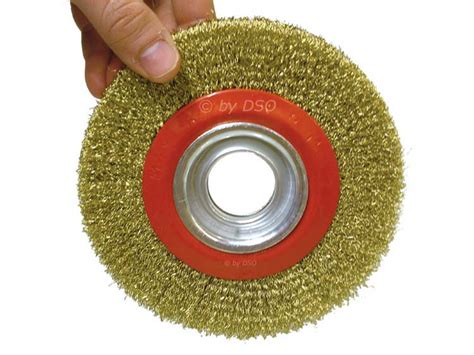 bench grinder brush 6 inch 150mm fine wire brush wheel for bench grinder with adaptor rings pw064