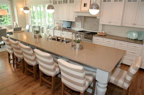 Kitchen Island With Seats Transitional Kitchen By Dwellings The Large Island Seats 7 Kitchen Pinterest