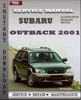 2001 subaru legacy outback shop service repair manual limited l gt wagon h6 3 0 for sale subaru outback 2001 service manual download repair service manual pdf