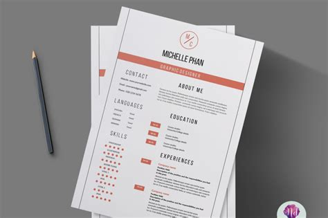 page resume template clean design  chic templates
