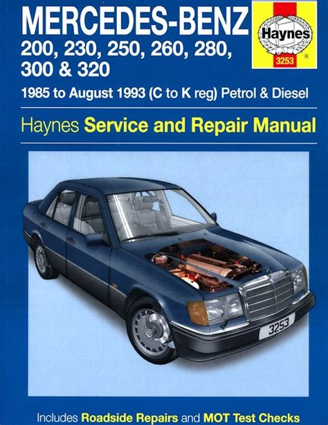 mercedes benz w124 series repair manual 1985 1993 haynes 3253