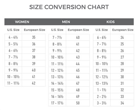 shoe size chart euro to uk european shoe size conversion to uk
