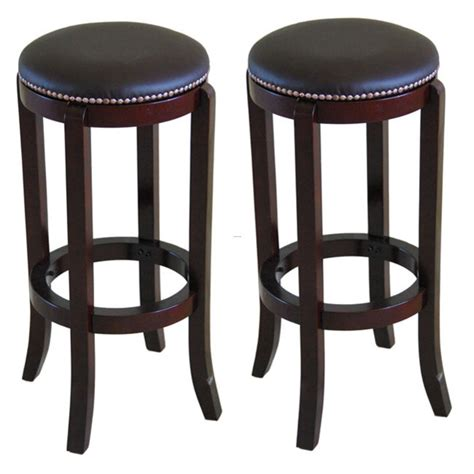 bar stools images north canyon polished cherry bar stool set of 2 design