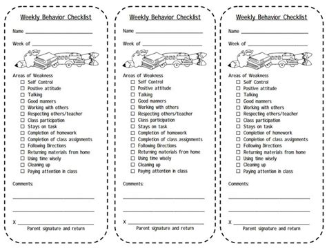 Best 25 Weekly Behavior Charts Ideas On Pinterest Behavior Report Weekly Behavior Report And Classroom Management Plan Template 2