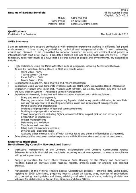 barbara benefield functional resume may 2015
