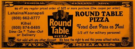 table pizza hawaii discount coupon