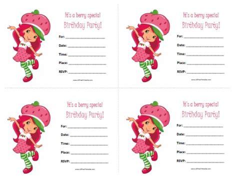 Strawberry Shortcake Birthday Invitations Free Printable Allfreeprintable Com Strawberry Shortcake Invitation Template Free
