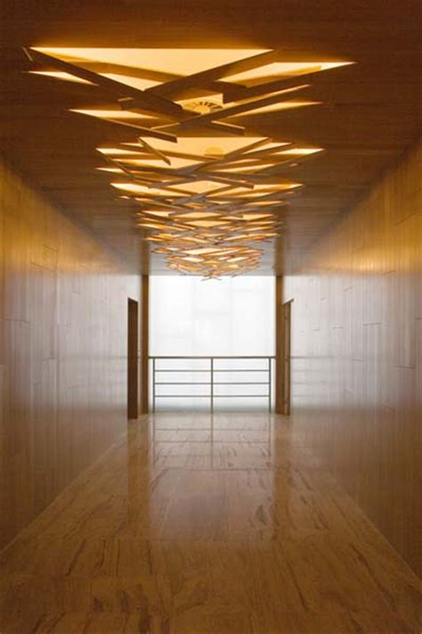 Wood Panels For Walls And Ceilings by Interior Wall Detail Showing Applications Of Recycled Wood Panel Cool Ceiling Design