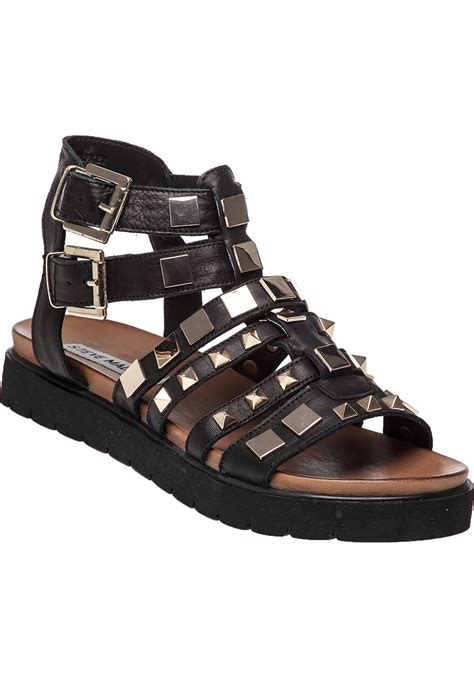 Steve Madden Sandals by Lyst Steve Madden Bettee Leather Caged Sandals In Black