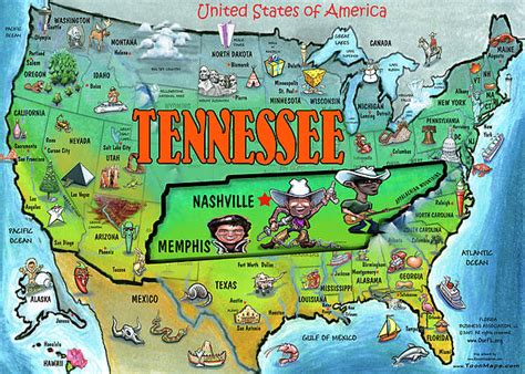 america map tennessee tennessee usa map by kevin middleton