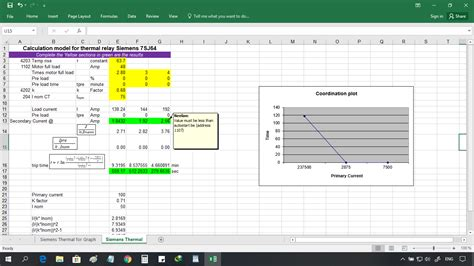 calculation  protective relay excel spreadsheets electrical engineering