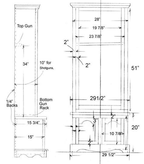 25 best ideas about gun cabinet plans on wood