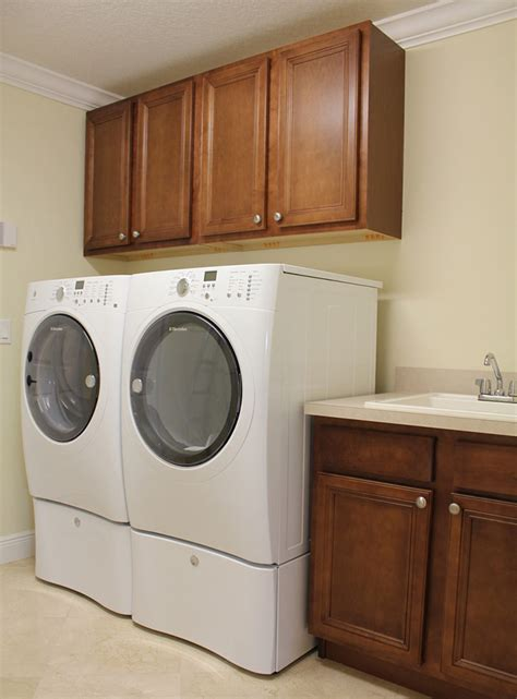 Laundry Room With Custom Cabinets Sink Rjm Custom Homes Laundry Room Sinks With Cabinets