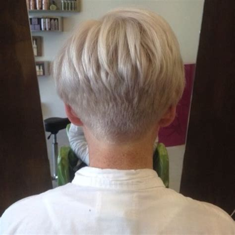 back view of short haircuts older women photos of pixie haircuts for women over 50