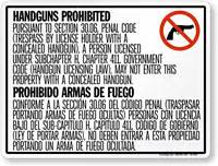 section 30 06 penal code concealed and open carry signs for texas