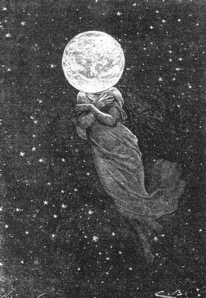 "An illustration from Jules Verne's novel ""Around the Moon"