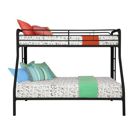 bunk beds with full on bottom and twin on top metal twin over full bunk bed in black 3136096