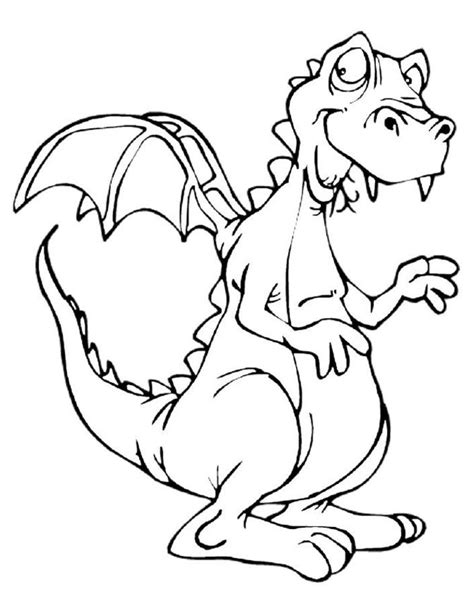 coloring pages of cute dragons cute dragon pictures coloring home