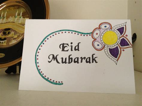 simple eid cards to make eid card stenciling underway eid ramadan