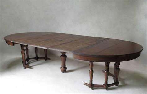 oval extension dining room tables oval extending walnut dining table france 19th century
