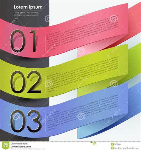 banner design ir 3d paper banner infographics stock vector image 33128385