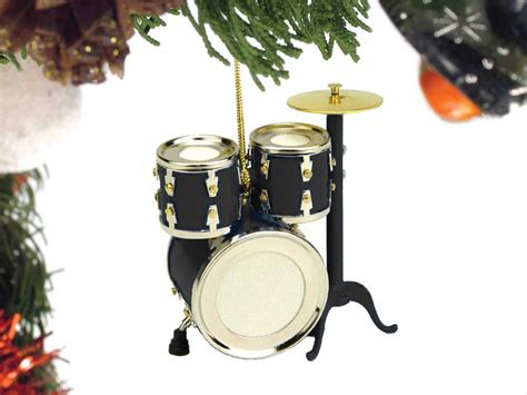 buy black drum set christmas ornament music gift