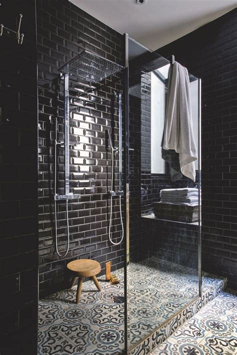 black tile bathroom ideas best 25 black tile bathrooms ideas on pinterest