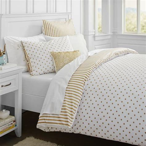 emily and meritt bedding the emily meritt metallic dottie duvet cover sham